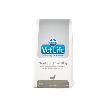 Vet Life Neutered Dog 1-10 кг / для взрослых стерилизованных собак мелких пород 2 кг