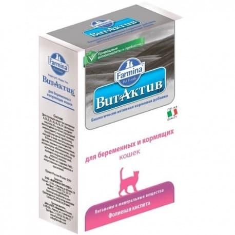 Вит-Актив К-БК для беременных и кормящих кошек (1уп - 60таб)