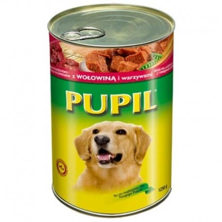"""Консервы """"PUPIL"""" для собак с говядиной и курицей (лоток 6 штук) 1250гр."""