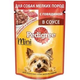 Влажный корм для собак Pedigree Для мелких пород говядина НОВИНКА (85гр.)