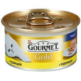 Gourmet Gold корм консервированный полнорационный с курицей для взрослых кошек 85 г