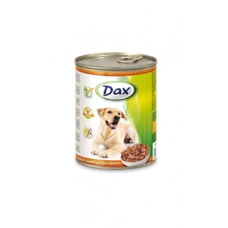 DAX Консервированный корм для Собак кусочки с птицей, 1240 гр