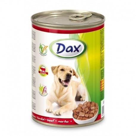 DAX Консервированный корм для Собак кусочки с телятиной, 1240 гр