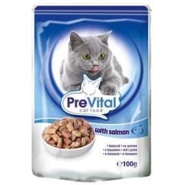 PreVital Классик консервы для кошек, в желе с лососем, 100 гр