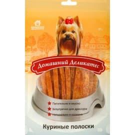 Домашний деликатес Куриные полоски, 0,085 кг