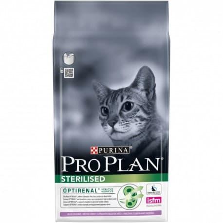 Pro Plan Корм сухой полнорацион. для взрослых кошек и кастрированных котов с индейкой (0,4 кг.)