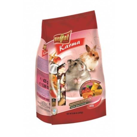 Vitapol Корм фруктовый для хомяка и кролика, 400 г