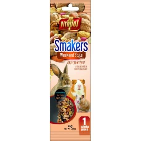 Vitapol Smakers® с орехами для грызунов и кролика в пакете WEEKEND STYLE, 45 г