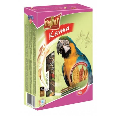 Vitapol Полнорационный корм для крупных попугаев , 900 г