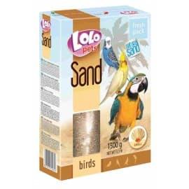 LoloPets Песок для птиц с ракушками, 1 500 г
