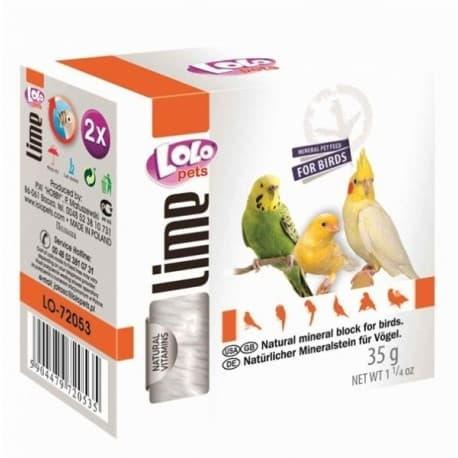 LoloPets Минеральный камень для птиц натуральный, 35 г