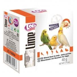 LoloPets Минеральный камень для птиц с ракушками, 40 г
