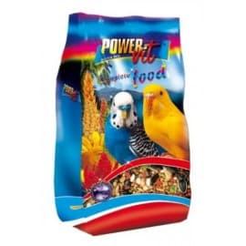 Power Vit Полнорационный корм для волнистых попугаев в пакете, 500гр.