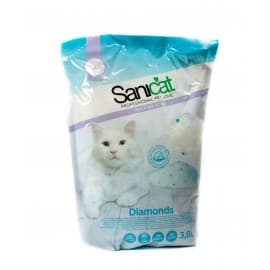 Наполнитель SANICAT Professional Diamonds силикагель, 3,8 л(2,4кг)
