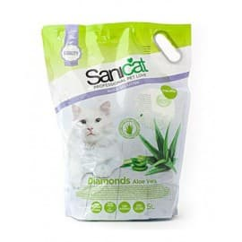 Наполнитель SANICAT Professional Diamonds Aloe Vera силикагель, 5 л(2,4кг)